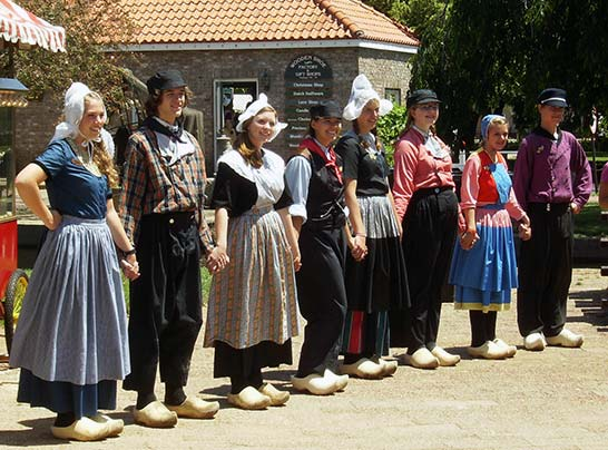 Dancers line up at Dutch Village