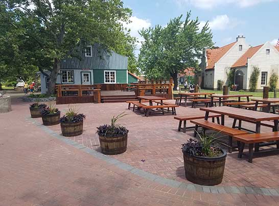 Holland Michigan Dutch Village New Patio Area