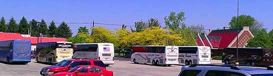 Ample Tour Bus Parking at Dutch Village in Holland MI
