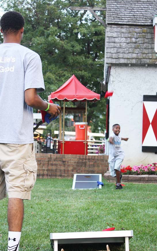 Games and more at Dutch Village in Holland, Michigan