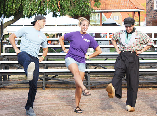 learn Dutch dancing at Dutch Village in Holland, Michigan