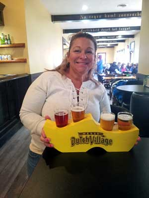 sample local craft brews at the Thirsty Dutchman Pub in Holland, MI